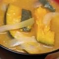玉ねぎとかぼちゃの味噌汁