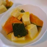 【簡単】かぼちゃ高野豆腐の煮物