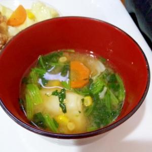 キャベツコーン味噌汁