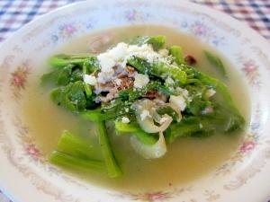 豚こまと菜花のくたくたスープ