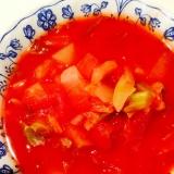 白菜と大根と玉ねぎとキャベツのトマトスープ