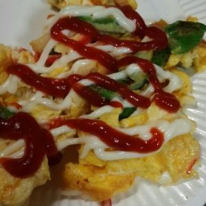 アスパラ炒り卵
