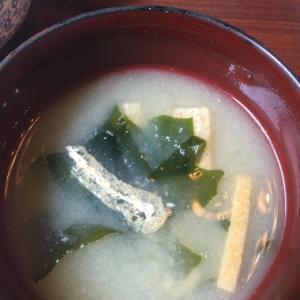 ズボラのワカメの味噌汁