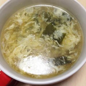 とろっと卵とワカメの中華スープ