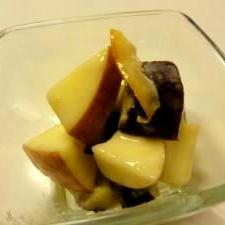 デザート!?リンゴとサツマイモのヨーグルトサラダ