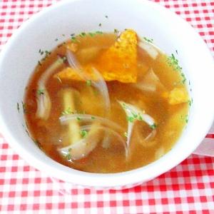 秋味*きのこのスープ~ドリトスを浮かべて~