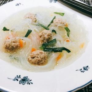 ズボラな私の中華風春雨スープ