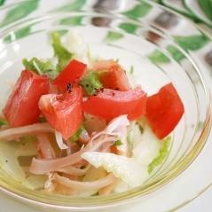 ぞっこんイカ・トマト・セロリのイタリアンサラダ