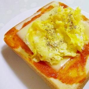 ふわふわ♪スクランブルエッグ♪チーズトースト