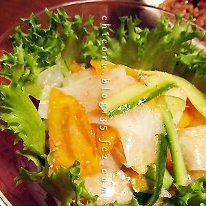 甘味ほんのり美味、柿のサラダ
