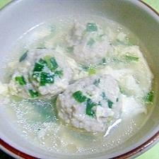 小ねぎとたまごの肉団子入りスープ★