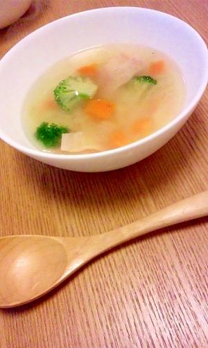 野菜たっぷりスープ