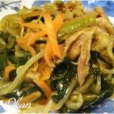 野菜嫌いにも★小松菜と豚肉のカレー炒め