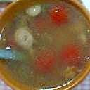 プチトマトとウインナーのスープ