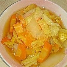 白菜と人参のさっぱりゆず風味ポン酢煮‼