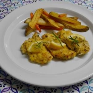 オーブンで!鶏ムネ肉のチーズパン粉焼き