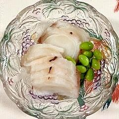 枝豆、タコ、酢の和え物