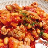 【油不使用 簡単】豚肉とトマトの煮込み