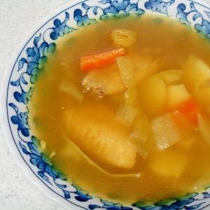 手羽先のカレースープ