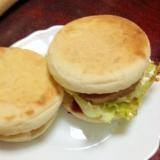 【ヤマザキのイングリッシュマフィン】ハンバーガー