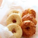 ノンフライヤー8分♪低糖質ココナッツ焼きドーナッツ