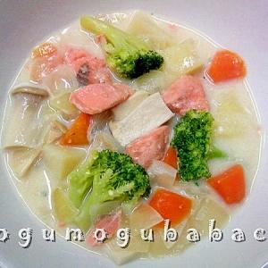スキムミルクで作る☆鮭のミルクシチュー