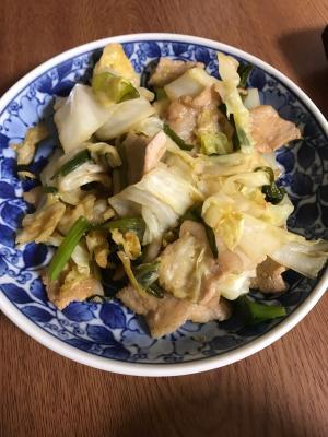 豚バラ肉とキャベツの炒め物