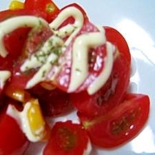 トマトとコーンだけ♪彩りサラダ☆