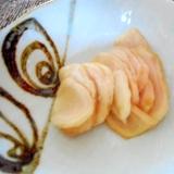 新生姜のらっきょう酢漬け
