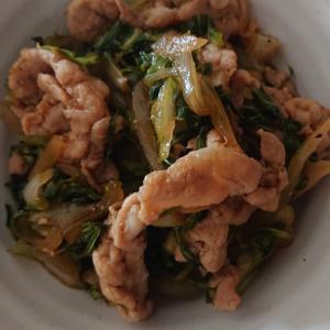 豚肉とほうれん草の生姜炒め