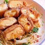 豚肉巻き豆腐の照り焼きソース