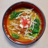 鶏そぼろ&小松菜&もやしde味噌ラーメン