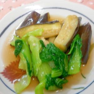レンジおかず☆なす・チンゲン菜のお浸し