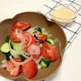 トマトときゅうりと玉ねぎのサラダ ♪