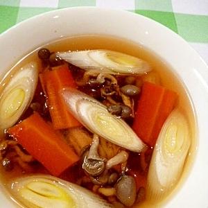 きのことネギの中華スープ