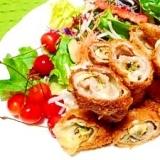 豚肉の☆大葉味噌チーズ巻きフライ