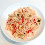 もやしと椎茸の☆紅生姜炒飯