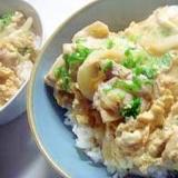 フライパンで★めんつゆで★★親子丼