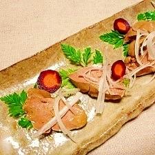 【中華ごま】鶏レバーの中華ごまフォアグラ風
