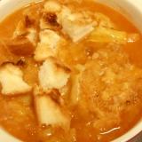 前日のコロッケとパンミミで♪お腹いっぱいスープ☆