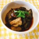 麺つゆでナスの煮浸し