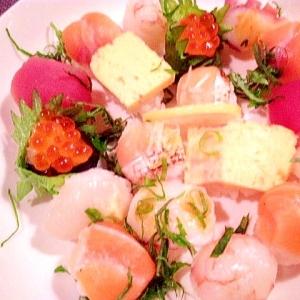 【パーティーアレンジ】市販のお寿司を使って手毬寿司