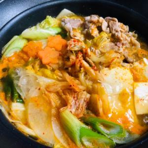 ひとり暮らしのキムチ鍋❤️あったか美味しい!