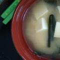 たけのこと豆腐とわかめのお味噌汁