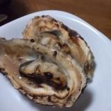 グリルで殻つき牡蠣のしょうゆ焼き