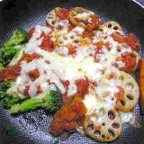 野菜たっぷりトマトチーズ蒸し煮