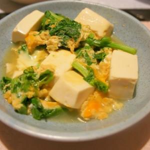 菜の花と豆腐の卵とじ