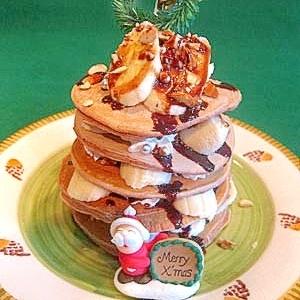 パンケーキで★ゴジャースクリスマスチョコパンケーキ