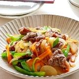 たっぷり野菜と牛肉の焼肉風炒め