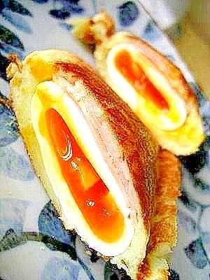 ✦まるごと✦ゆで卵のホットサンド